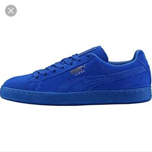 best website 87d44 847fb Puma classic suede ICED in royal blue